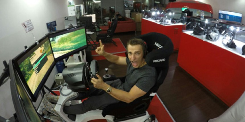 Vitaly on our Motion Simulator